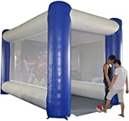 SAYOK PVC Inflatable Hockey Arena Slap Shot Hockey Game with Blower for Ice Hockey Parties and Events (16.5x10