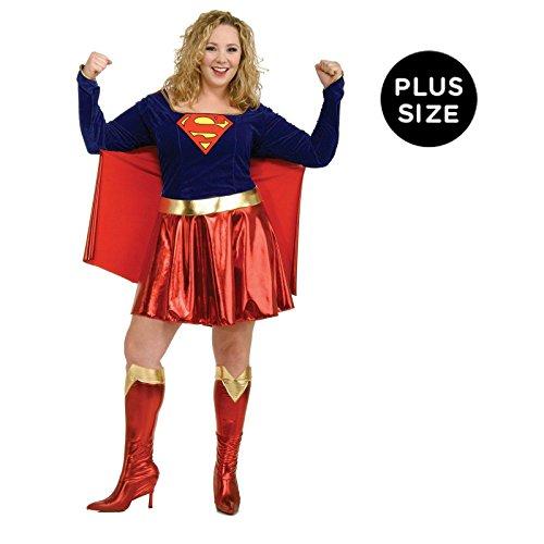 DC Comics Supergirl Plus Size Adult (Group Superhero Halloween Costumes)