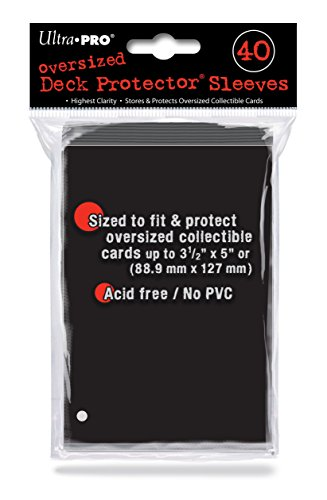 Ultra Pro 40ct Black Oversized Deck Protectors 82420