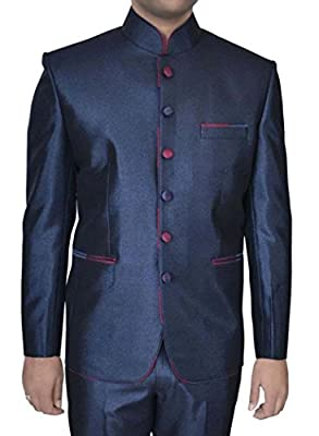 INMONARCH Mens Stylish Navy blue 2 pc Jodhpuri Suit JO315