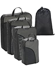 Packing Cube Combo Travel Packing Organizers Cubes for Clothing/Luggage 4pcs Set with Shoes/Laundry Bag