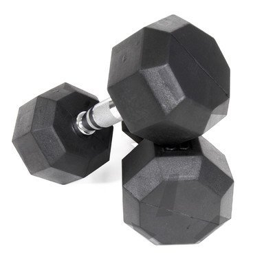 Cheap Rubber Encased Octagonal Dumbbell Size: 20 lbs