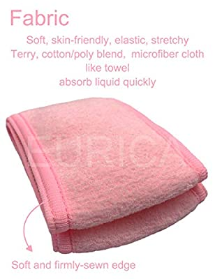 Spa Headband Hair Wrap EURICA Sweat Headband Head Wrap Hair Towel Wrap Non-slip Stretchable Washable Makeup Headband for Face Wash Facial Treatment Sport Pack of 5 with 2 Facial Mask Brush Fits All