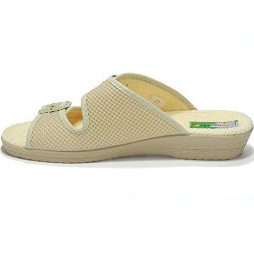 Calzados Romero Women's Slippers Ecru f4izBeAEt
