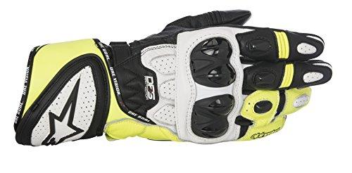 Alpinestars Men's GP Plus R Leather Glove (Black/White/Yellow, X-Large)