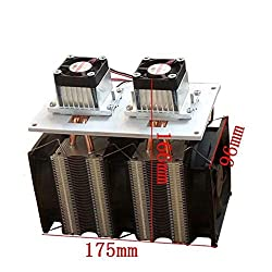 Nrthtri smt Enhanced Version 12V 12A 144W DIY Double Head Electronic Semiconductor Refrigerator Radiator Cooling Equipment Refrigeration Side Can Be Frozen Eater