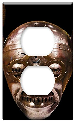 Switch Plate Outlet Cover - Knight Helmet Scary Crazy Devil Haunted -