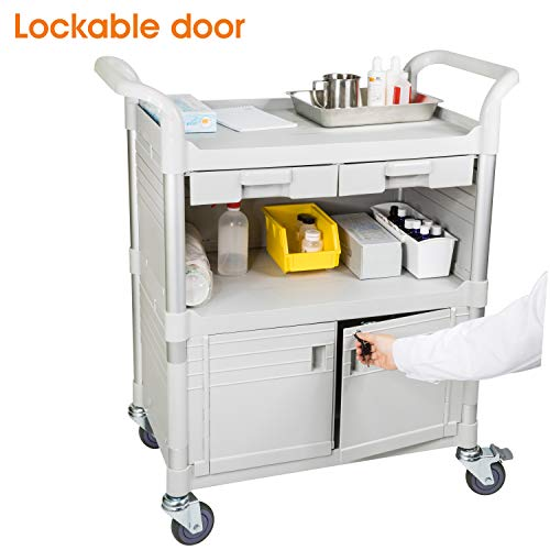 JaboEquip Commercial Heavy Duty Hospital Carts, Medical Cabinet Utility carts -for Hospital and Hotel