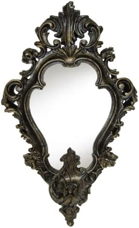 Hickory Manor House Empire Mirror, Black Gold Silver
