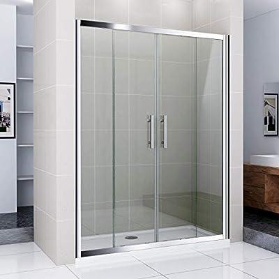 Mamparas de Baño Puertas corrediza dobles cristal 6mm 120x185cm: Amazon.es: Bricolaje y herramientas