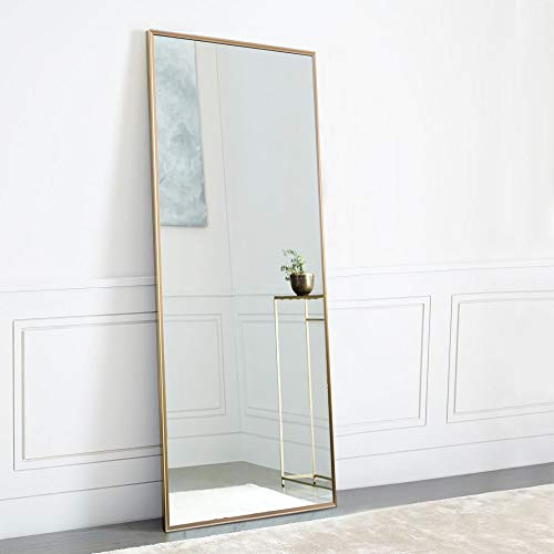 NeuType Full Length Mirror Standing Hanging or Leaning Against Wall, Large Rectangle - Framed Bathroom Aluminum Mirrors