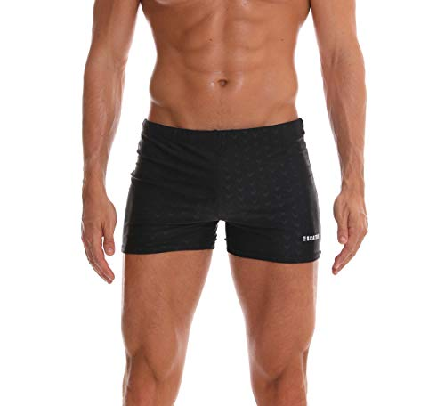 (SALENT Men's Swim Trunks Shorts Athletic Swimwear Briefs Boardshorts (L,)