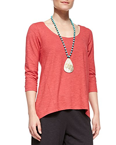 Eileen-Fisher-Scoop-Neck-Organic-Cotton-Hemp-Twist-Hi-Low-Top-2X-Sunset