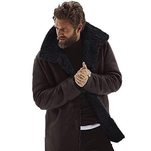 Parka Zolimx Invernale brown Cappuccio Di Marrone Giacca Giacche Staccato Ispessito Giubbotto Uomo Lana Cappotto Giaccone Rr8Rzqw