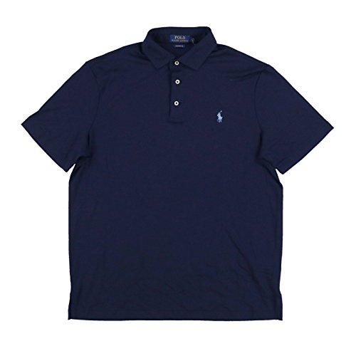 Polo Ralph Lauren Mens Classic Fit Interlock Polo Shirt (Medium, Navy - Lauren Shirt Classic Ralph Fit