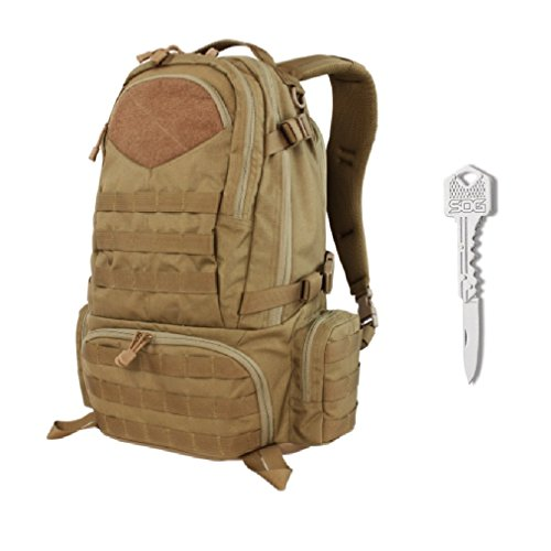 Condor Titan Assault Pack (Brown) + SOG Lockback Key Knife by Condor Outdoor (Image #9)