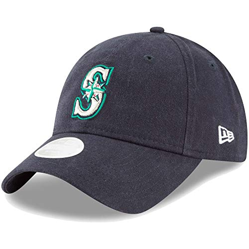 New Era Womens Core Classic Twill Team Color 9TWENTY Adjustable Hat (Seattle Mariners) ()