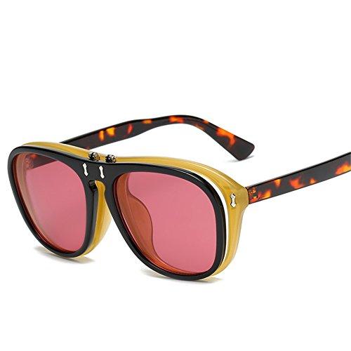 54 de gafas D NIFG de flip double y y Gafas mujeres americanos para creativas sol 142 sol mm europeos hombres punk 142 H0W5pw0q