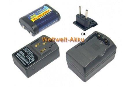 PowerSmart® – Batería + cargador 500mAh para cámaras modelos Contax 645, AX, N1, RTS III, RX, RX II, Duracell DL245, Energizer 2CR5, EL2CR5, Fujifilm 2CR5, IEC 2CR5, Kodak KL2CR5