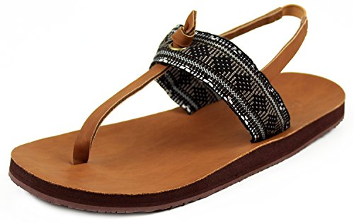 15e8a4506 Feelgoodz Women s Flip Flop Islands Natural Rubber and Leather (10