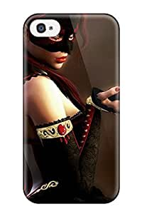 Fashion Tpu Case For Iphone 4/4s- The Masked Princess Defender Case Cover