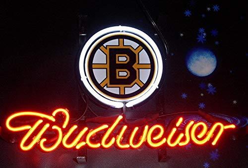 "Desung 17""x13"" Budweisers Boston Sports Team BruinNeon Sign (VariousSizes) Beer Bar Pub Man Cave Glass Light Lamp BW54"