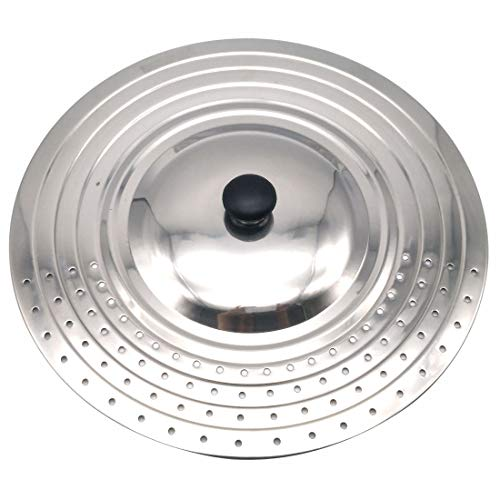 (Stainless Steel Universal Lid with Steam Vent, Fits 9.5