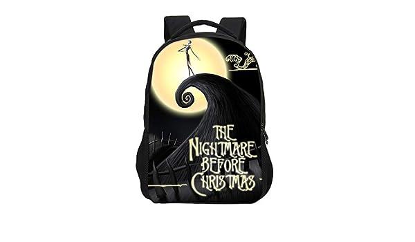 Amazon.com: CHITOP Brand Cartoon Anime Nightmare Before Christmas, Printing Backpacks Boys Girls School Bags Teenage Bookbag Mochila Escolar (Gray): Home & ...