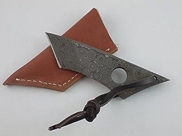 Gamsjaga GJ Cuchillo Skinner Cuchillo de Cuello diseño mini ...