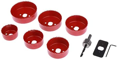 JINHUADAI 9X hole saw metal drill bit, marble, glass, ceramic, porcelain, stone tile extraction tool