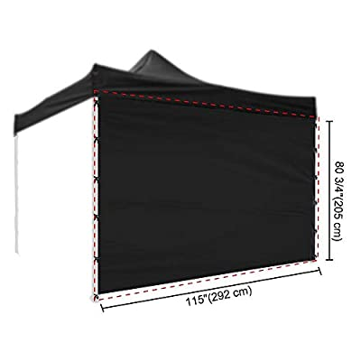 Yescom 10x10 Ft EZ Up Canopy Tent Side Wall Pop Up Party Tent Sidewall Shelter Sun Wall Oxford Black : Garden & Outdoor