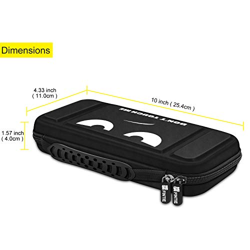 Fintie Carry Case for Nintendo Switch - [Shockproof] Hard Shell Protective Cover Travel Bag w/10 Game Card Slots, Inner Pocket for Nintendo Switch Console Joy-Con & Accessories, Dont Touch