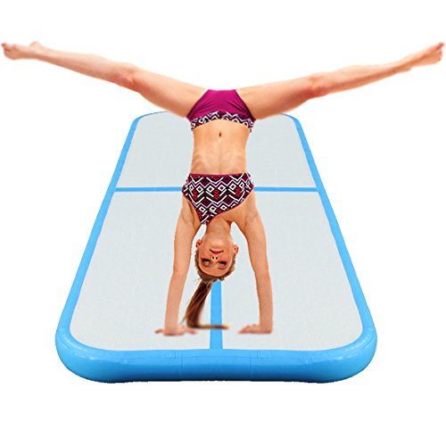 Joyfay Inflatable Gymnastics Mat Air Track for Tumbling- 3.3×10 Foot Air Floor for Gymnastics, Cheerleading, and Martial Arts, Fun For All Ages, Quickly Inflates with the Electric Air Compressor, by