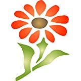 "Daisy Stencil - (size 2.5""w x 3.5""h) Reusable Wall Stencils for Painting - Best Quality Wall Border Flower Stencil Ideas - Use on Walls, Floors, Fabrics, Glass, Wood, Terracotta, and More…"