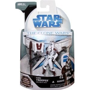 Figures Clone Star Wars Wars (Hasbro Star Wars Clone Wars 2008 Clone Trooper with Space Gear Action Figure #21)