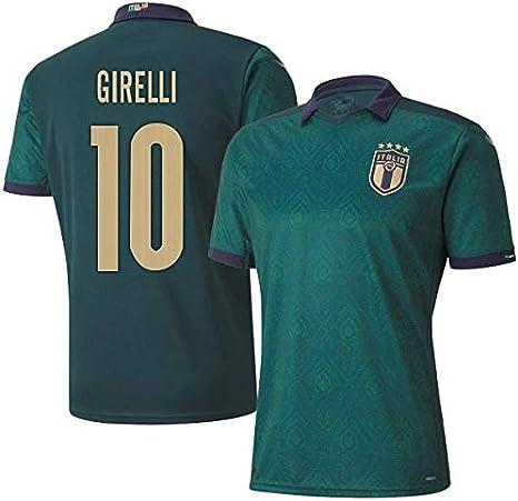 K/&A Sport Maglia Cristiana Girelli Rinascimento FIGC Italia Verde 2020//22 per Uomo e Ragazzi