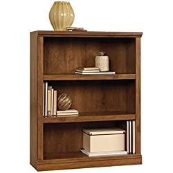 Sauder 410372 Select 3-Shelf Bookcase, Oiled Oak Finish