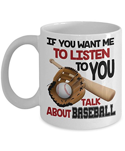 BASEBALL COFFEE MUG: Creative Hot Beverage Printed Mugs for Men, Women, Mom and Dad - Cute, Funny, Clever, Unique Specialty Drinkware - Microwave & Dishwasher Safe - Fade Resistant!
