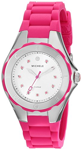 MICHELE Women's MWW12P000002 Jellybean Analog Display Analog Quartz Pink Watch - Michele Tahitian Jelly Bean