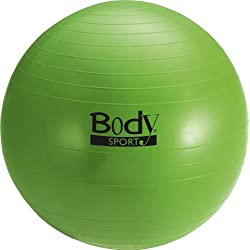 Body Sport Anti-Burst Fitness Ball, Green, 55cm