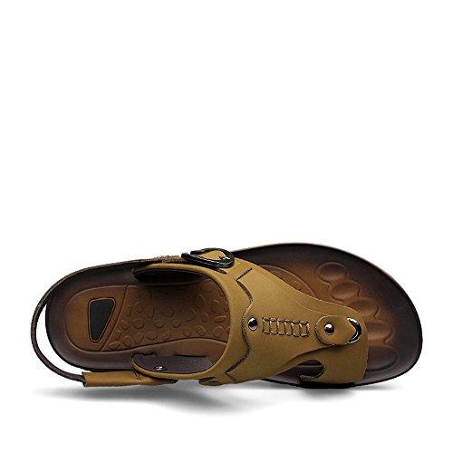 spillo Giallo cinturino Color con Mens 43 uomo shoes a Tacco piatto Dimensione posteriore Cachi da 2018 EU 7IqPP