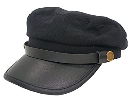 Roffatide Unisex Adult Chauffeur Costume Driver Cap Cosplay Officer Fiddler Hat