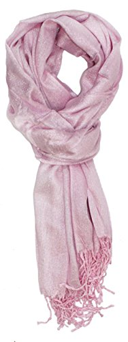 Ted and Jack - Hollywood Dreams Sparkling Metallic Scarf (Pale Pink)