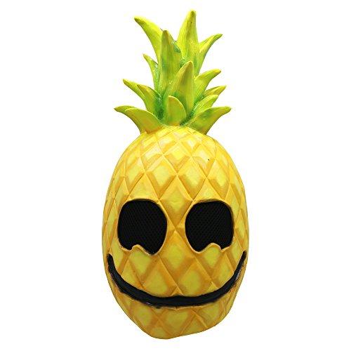 Lucky Lian Pineapple Latex Mask Halloween Fruit Helmet Cosplay Costume Accessory -