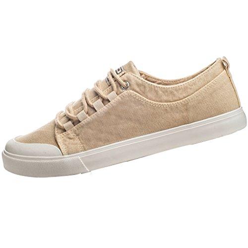 Scarpe basse tendenza Espadrillas uomo scarpe da Size estiva Beige stile coreano uomo selvaggia Scarpe scarpe YaNanHome Bianca di Color 43 di tela da casual scarpe qxvX45