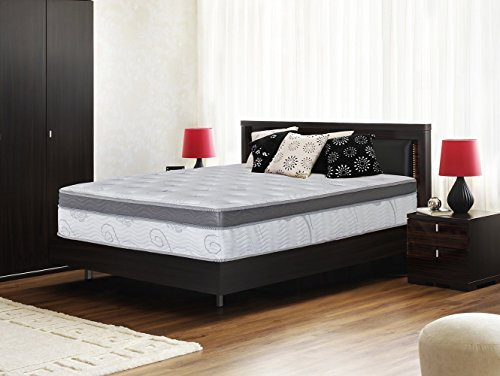 olee sleep 13 inch box top hybrid gel infused memory foam innerspring mattress king 13sm01k
