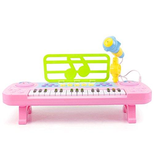 DUWEN Keyboard Children's keyboard Multifunction Zero-based With microphone 3-6 years old (Color : Pink) by DUWEN