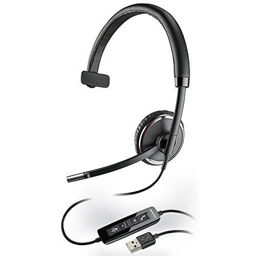Plantronics Blackwire Monoaural Over-the-head Lightweight Noise-canceling Hands-free PC USB Headset with Comfort Fit Wideband Headband Smart Sensor Technology & In-line Call & Volume Controls For Microsoft Office Communicator ()
