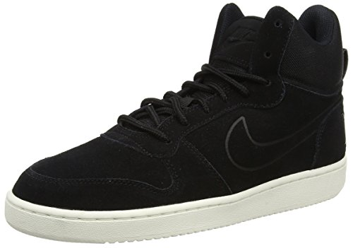 NIKE Court Borough Mid Premium, Sneaker Uomo Nero (Black/Black Sail)