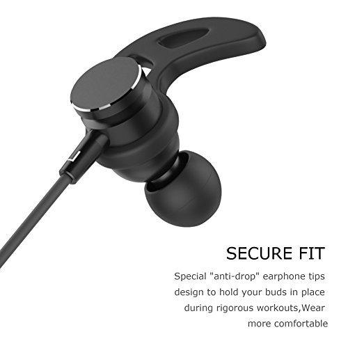 Tonicstar Bluetooth In-Ear Headphones, Wireless Sweat Proof Sports Headset HD Stereo Magnetic Earbuds for Running Workout Comfortable Headphones